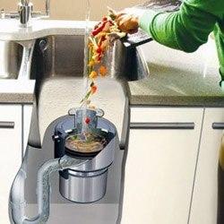 Установка измельчителя пищевых отходов в Омске, подключение утилизатор пищевых отходов в г.Омск